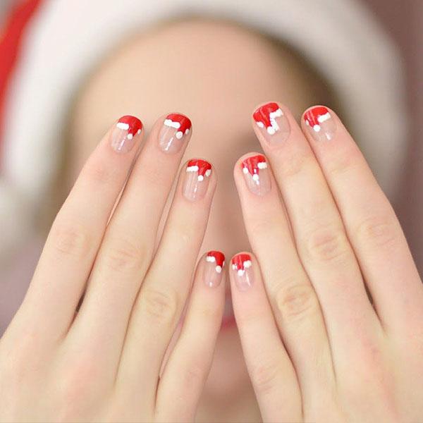 Цвет хвои и «шапочки Санты»: главные тренды новогоднего маникюра