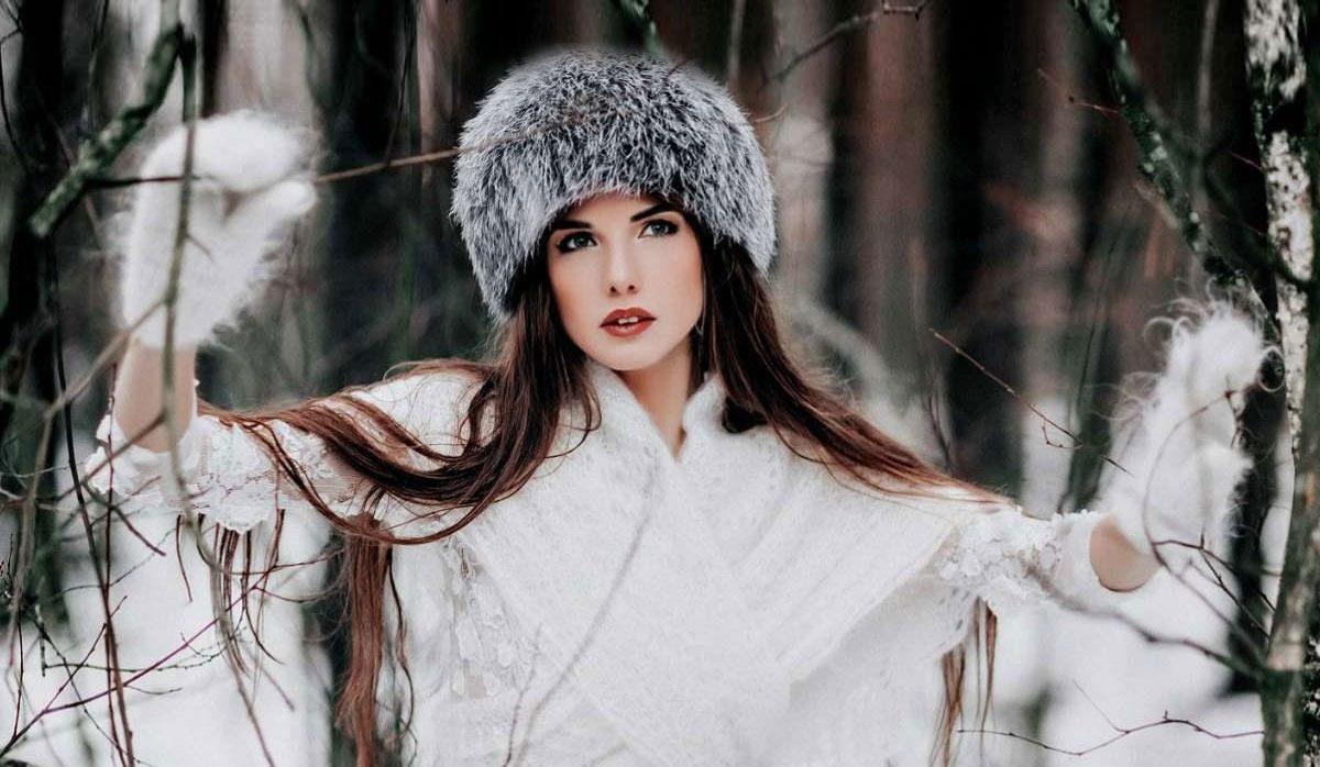 нижнему макияж для зимней фотосессии на улице кольцо