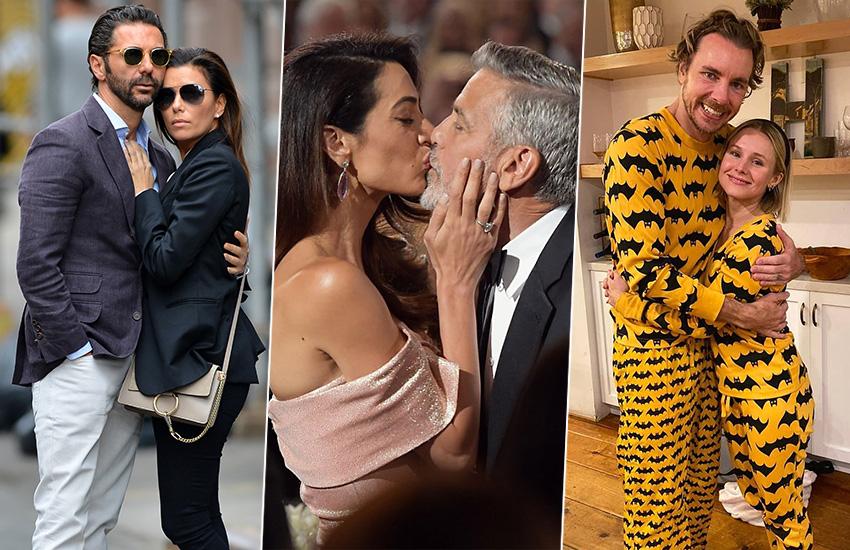 Ева Лонгория и Хосе Антонио Бастон Джордж и Амаль Клуни Дэкс Шэпард и Кристен Белл звездные пары