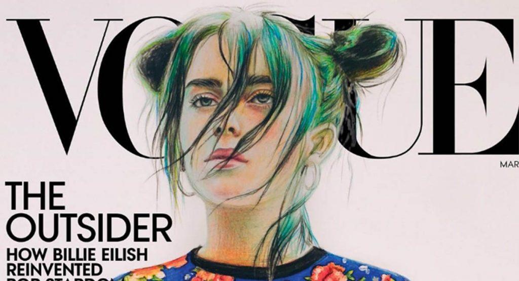 16-летняя россиянка нарисовала Билли Айлиш для обложки Vogue
