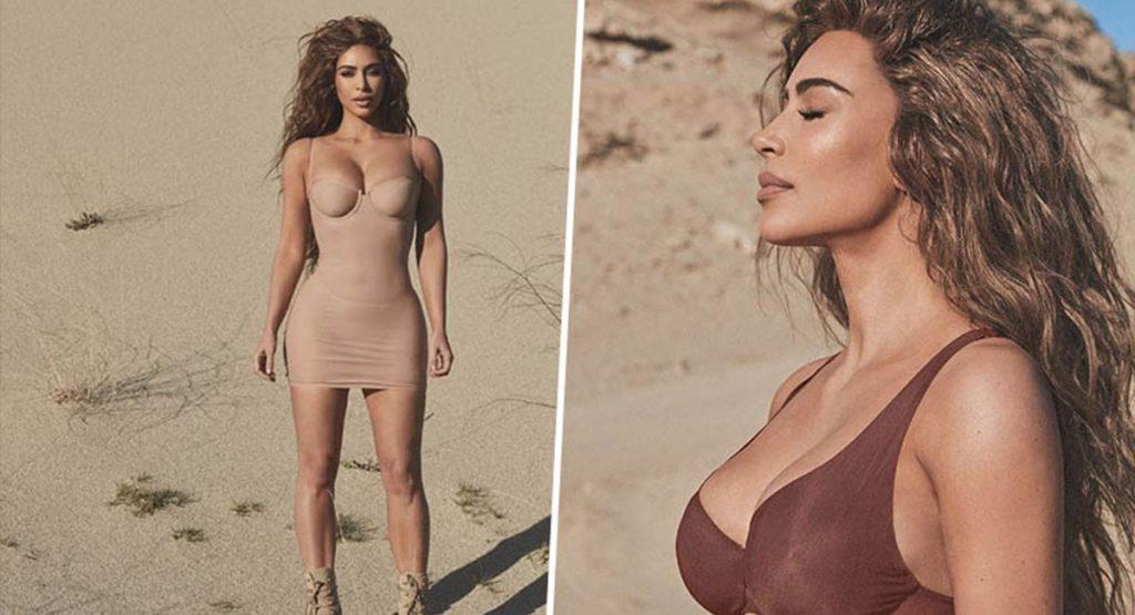 Ким Кардашьян представила коллекцию утягивающего белья Skims Naked