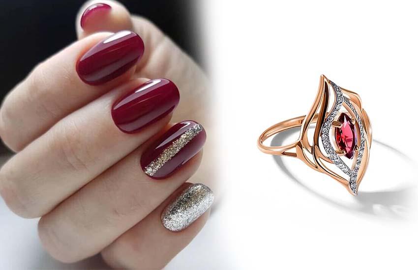 маникюр 8 марта тренды дизайн ногтей аксессуары украшение кольцо