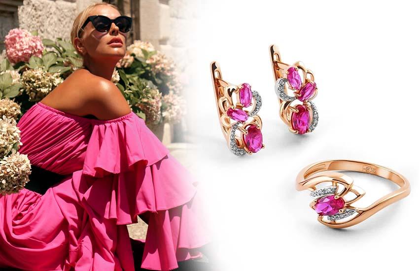 женственность девушка стиль украшения драгоценные камни рубин