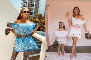 Платье из подушки: новый флешмоб набирает популярность