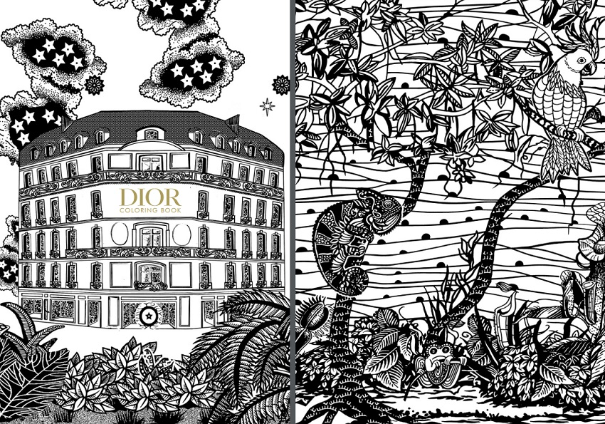 Дом моды Dior выпустил книгу-раскраску