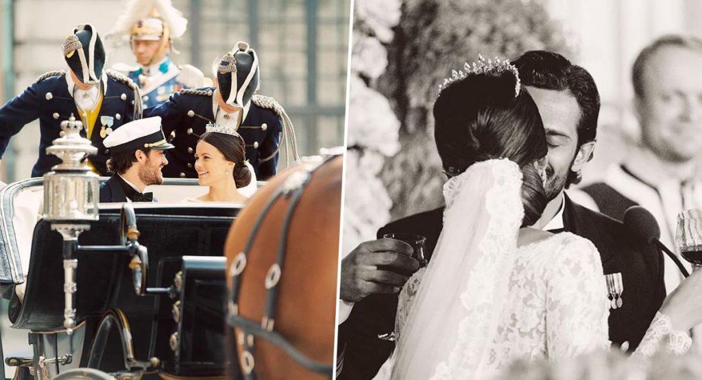 Принц и принцесса Швеции показали свадебные фото, которые прежде никто не видел