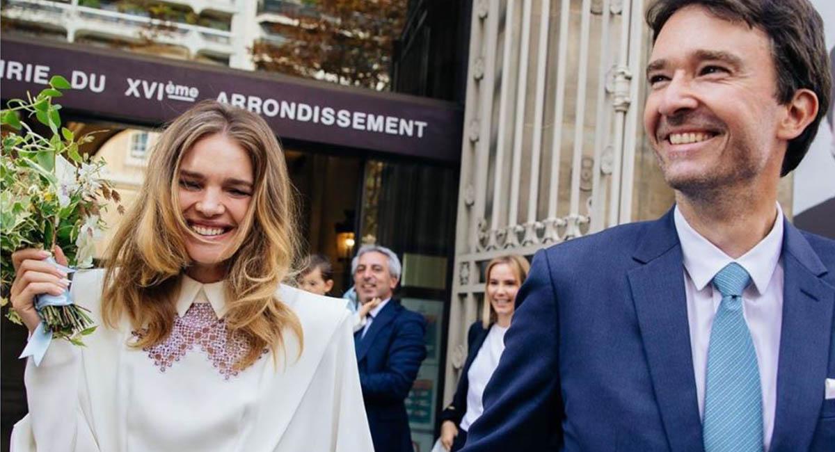 Наталья Водянова вышла замуж в платье Ulyana Sergeenko