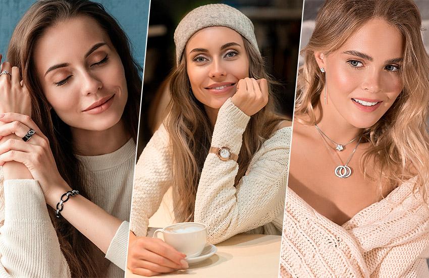 Тепло? Горячо! 5 стильных способов носить украшения с трикотажем