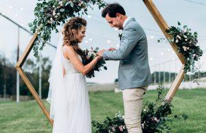 Любовь в квадрате: свадьба в геометрическом стиле