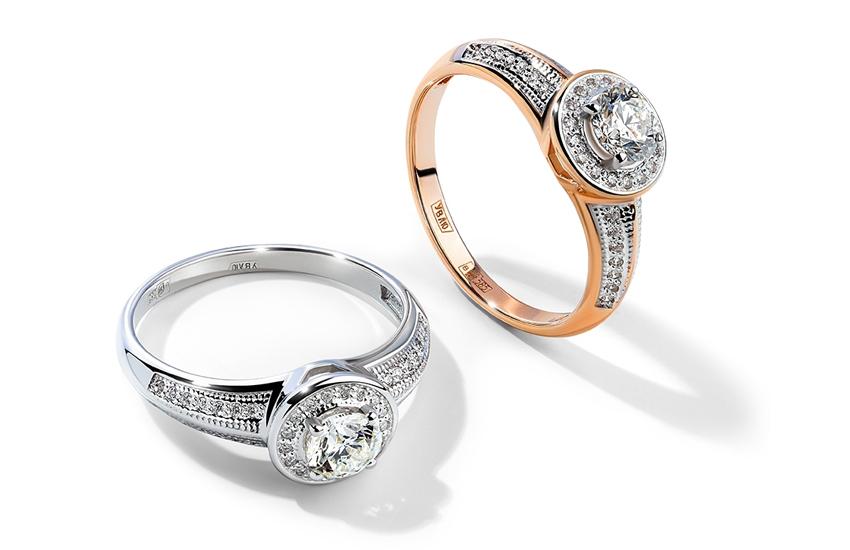 Кольцо гало: вечное сияние чистого бриллианта